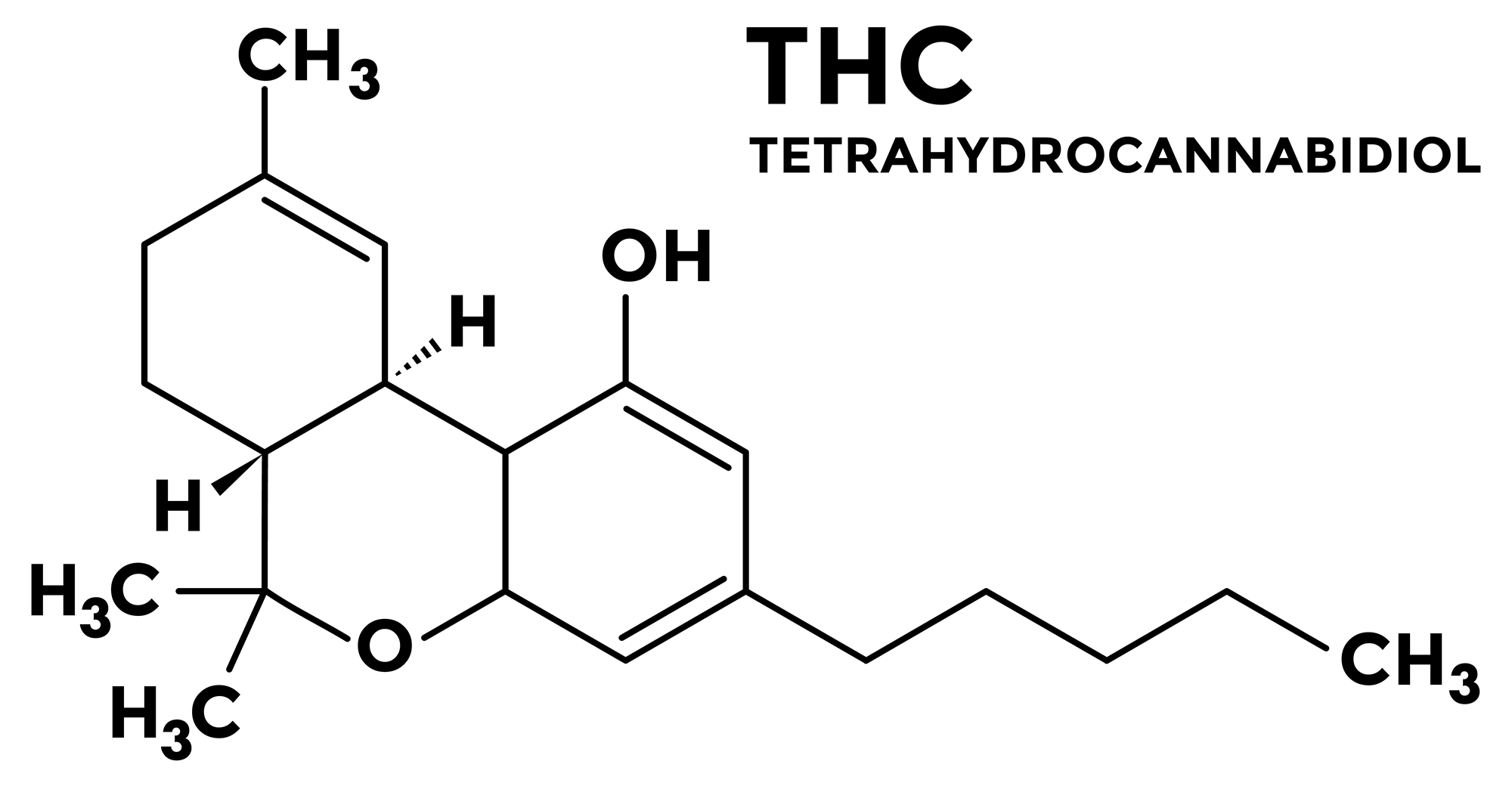 Cannabinoids - THC diagram